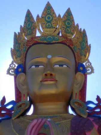 Symbol of Peace - sitting atop a hill in Diskit area of Nubra Valley