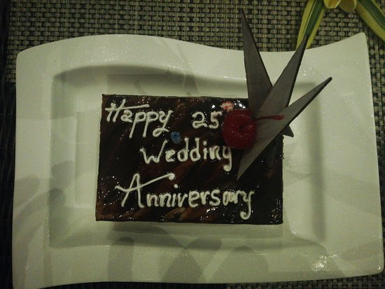 Complimentary Cake was given to make our 25th Anniversary memorable.....
