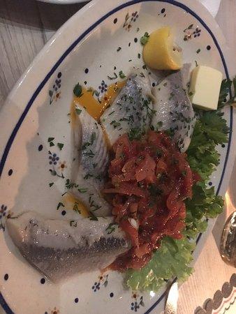 Hotel Sabala: Hering with tomato sauce.