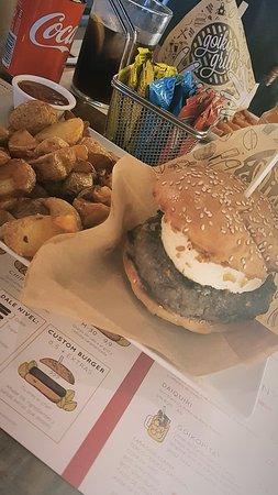 Hamburguesa con crema de queso