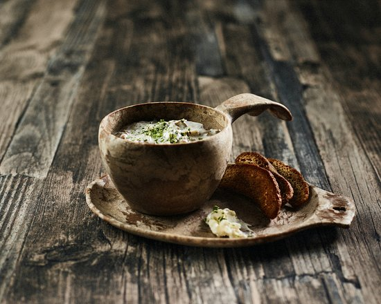 Taste the delicious forest mushroom soup at the Sirmakko Reindeer Farm in Rovaniemi, Lapland, Finland