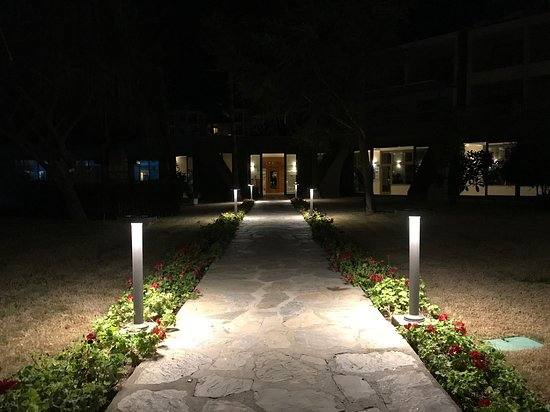 Outside by night