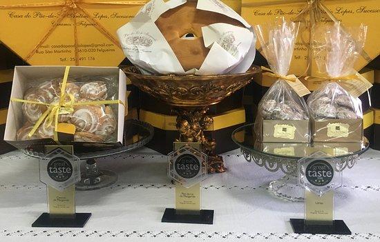 GREAT TASTE AWARDS 2018 - PORTUGAL  TRIO - 3 ESTRELAS no:  - Pão de Ló de Margaride - Cavacas de Margaride - Lérias