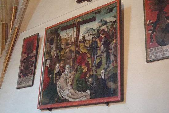 Painting in the back chapel of one of the side aisles