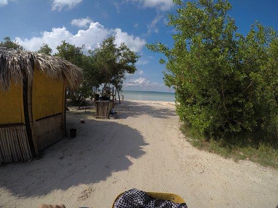 llegando a punta cocos isla de holbox