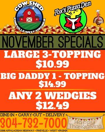 Pineville, WV: November Specials