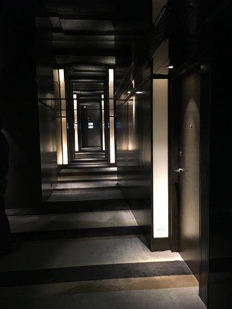 The dark hallways by the elevators