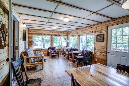 Battle Lake, MN: Enjoy our screened in porch on the Front Porch Cabin. Gather around your friends and family for night time chats and slumber parties. Hear the loons sing you a lullaby.