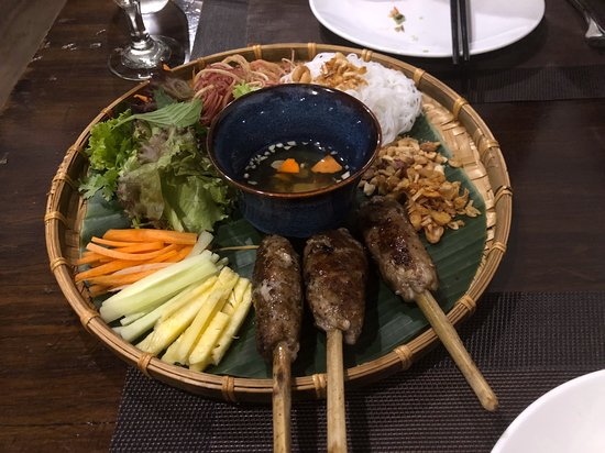 Duong's Restaurant Saigon & Cooking Class : Pork in Sugarcane was a terrific medley of flavors wrapped together and dipped - a great ensemble of tastes!
