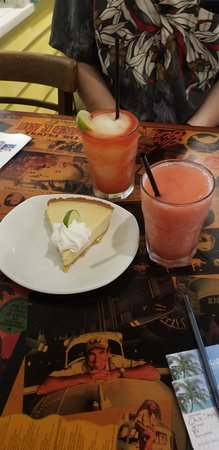 The drinks were fine, the key lime pie was good.