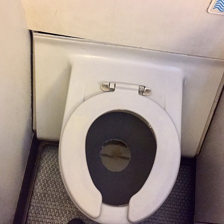 Tunisair: Toilet with no Lid when you Flush and no Water from Taps to Clean Hands, but still 'in use' - Worst ever seen on a Plane