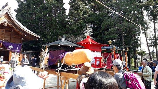 活動當天,會先於另一座神社放置神轎,待良辰吉時再將神轎移往田縣神社。