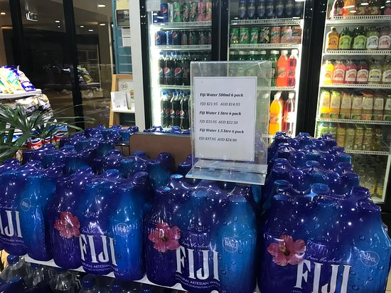 Fiji water cost at hotel store
