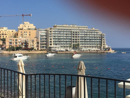 View of the hotel from Spinola Bay