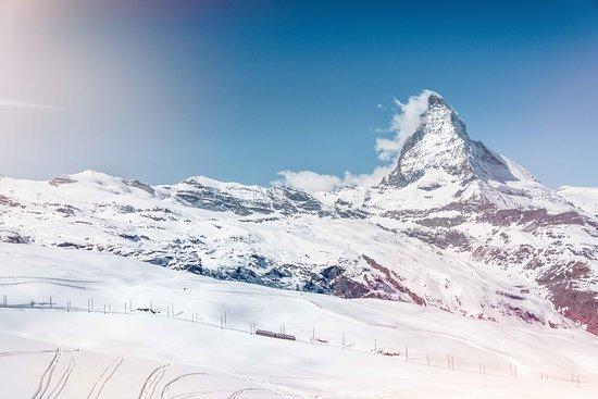 Valais, Suisse : Paysage hivernal, Cervin, Zermatt