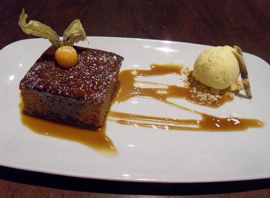 Sticky Toffee pudding & ice-cream.
