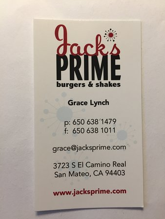 Jack's Prime Burgers & Shakes: Tell Grace we said Hi!!