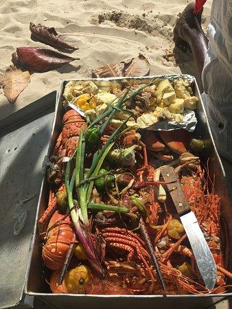 beach vendor lobster
