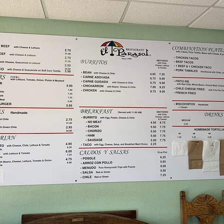 El Parasol Santa Fe 1833 Cerrillos Rd Restaurant Reviews Phone