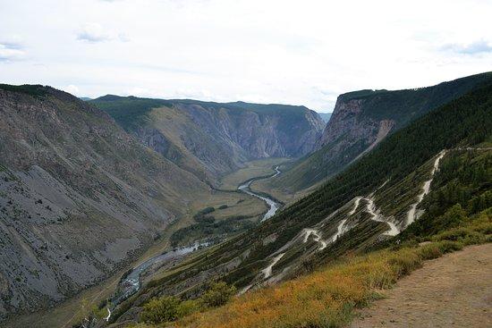 Ulagan, Rusia: Дорога на перевал Кату-Ярык.
