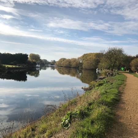 Staines, UK: Taken on a beautiful autumn day during a walk on Penton hook island