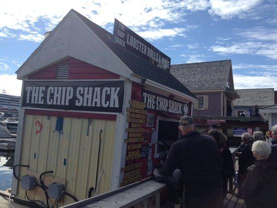 The Chip Shack : On ne peut arréter à Charlottetown sans manger homard et frites.