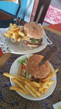 Yummy burgers.