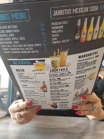 The Burrito Bar SALE: Drinks Menu