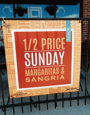 Half-Priced Margaritas and Sangrias on Sunday at Sabor