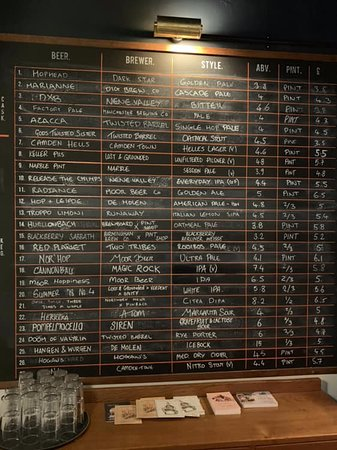 The Pint Shop Beer Board