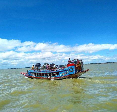 Passenger boat in Kishoreganj Wetland, Bangladesh