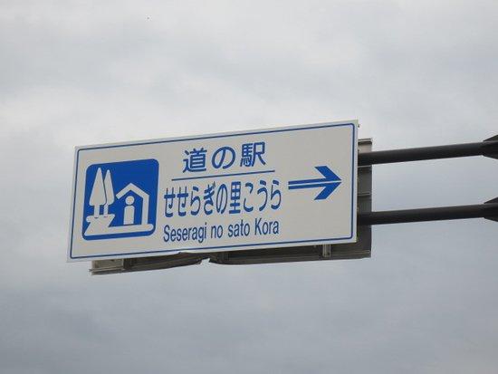 Michi-no-Eki Seseragi no Sato Kora: 道路標識