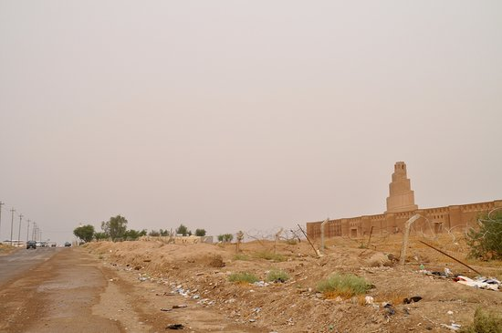 The sadly neglected access road to Samarra site