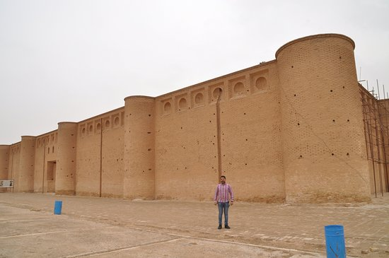 Samarra, Iraq: Scale shown by my Iraqi translator