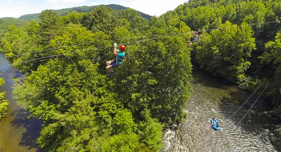 Hartford, TN: Zip over the Big Pigeon River!