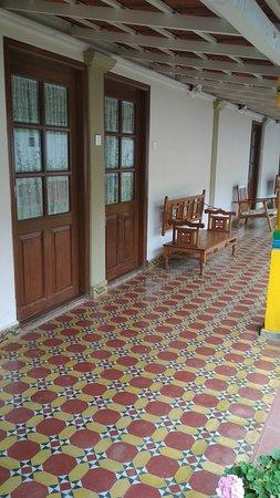 The Grange Hotel: corridor towards backside room