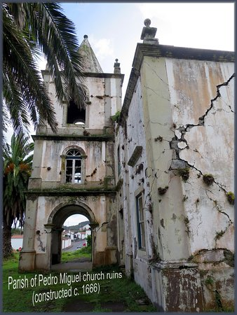 Faial church ruins in Pedro Miguel stand as a testament to the destructive force of an earthquake