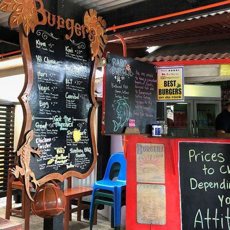 Vili's Burger Joint: Larger menu board