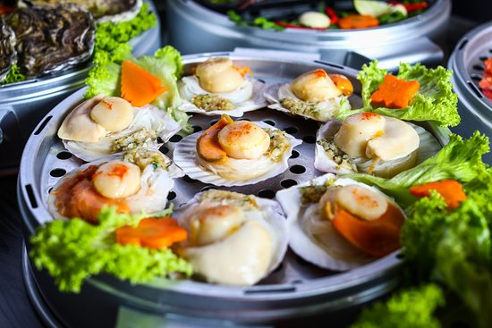 Captain K Seafood Tower: Half-Shell Scallop