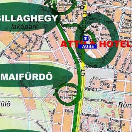 Attila Hotel & Pension: Map