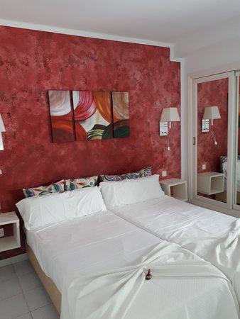 Bedroom area on arrival