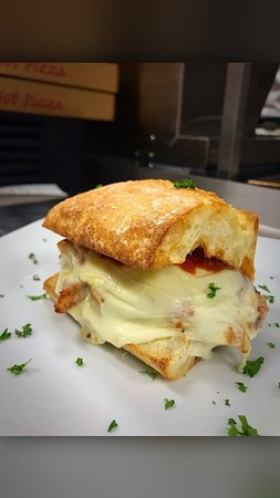 Chicken parmigiana sandwich super delish