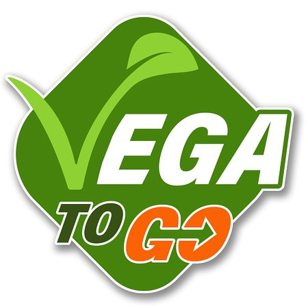 Our logo, Vega To Go. Excellent veggie and vegan subs in Amsterdam