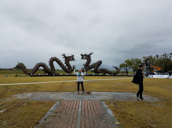 Gimje, Sør-Korea: The giant dragon sculptures are amazing.