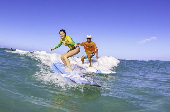 Lecciones de surf en la playa de...