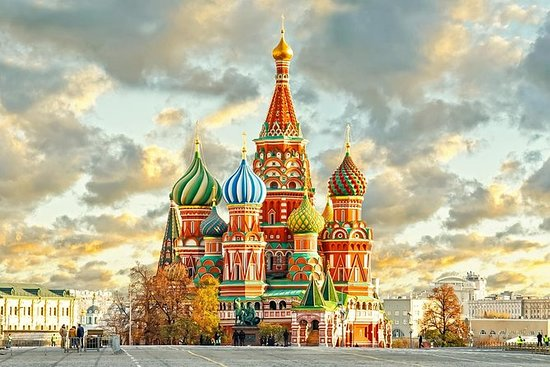 Kremlin Territory with Cathedrals Red...