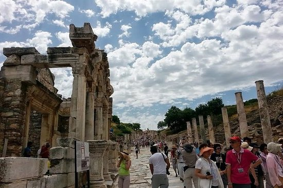 Forntida Ephesus House of the Virgin...