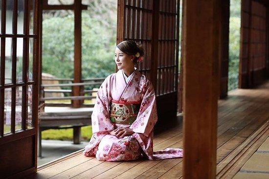 Kimono 'Furisode' à manches longues à...