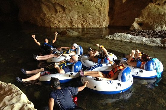 Cave Tubing and Zipline Adventure...