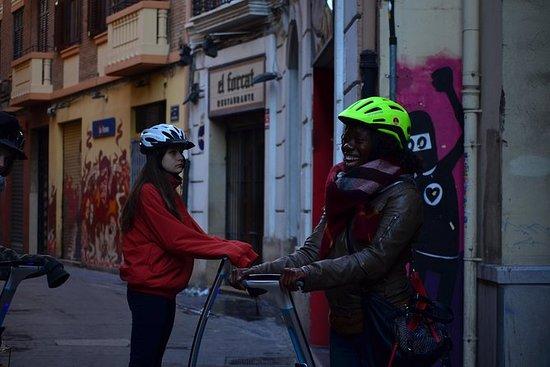 Der Park und die Stadt Valencia...